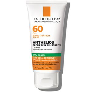 La Roche-Posay Anthelios Clear Skin, Dry Touch Face Sunscreen, Oil Free with SPF 60, 1.7 Fl. Oz.