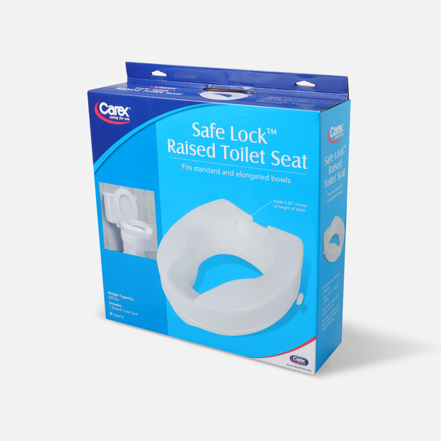 Carex B31300 - Safe Lock Raised Toilet Seat 4.5 high 500lb., , large image number 2