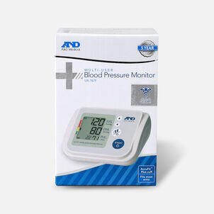 A&D Multi-User Upper Arm Automatic Blood Pressure Monitor w/ AccuFit Plus Wide Range Cuff