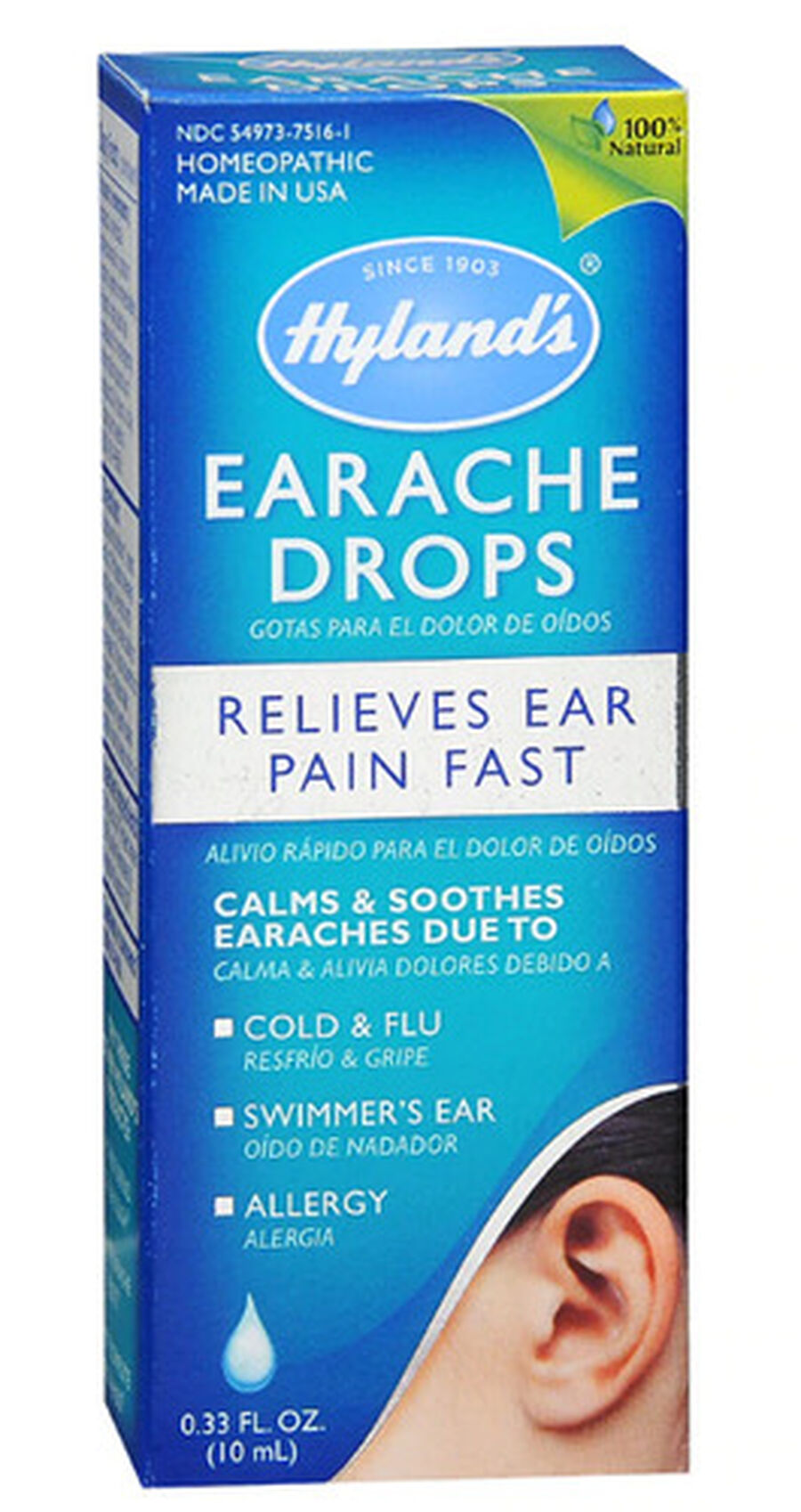 Hyland's Earache Drops, 0.33 oz, , large image number 0