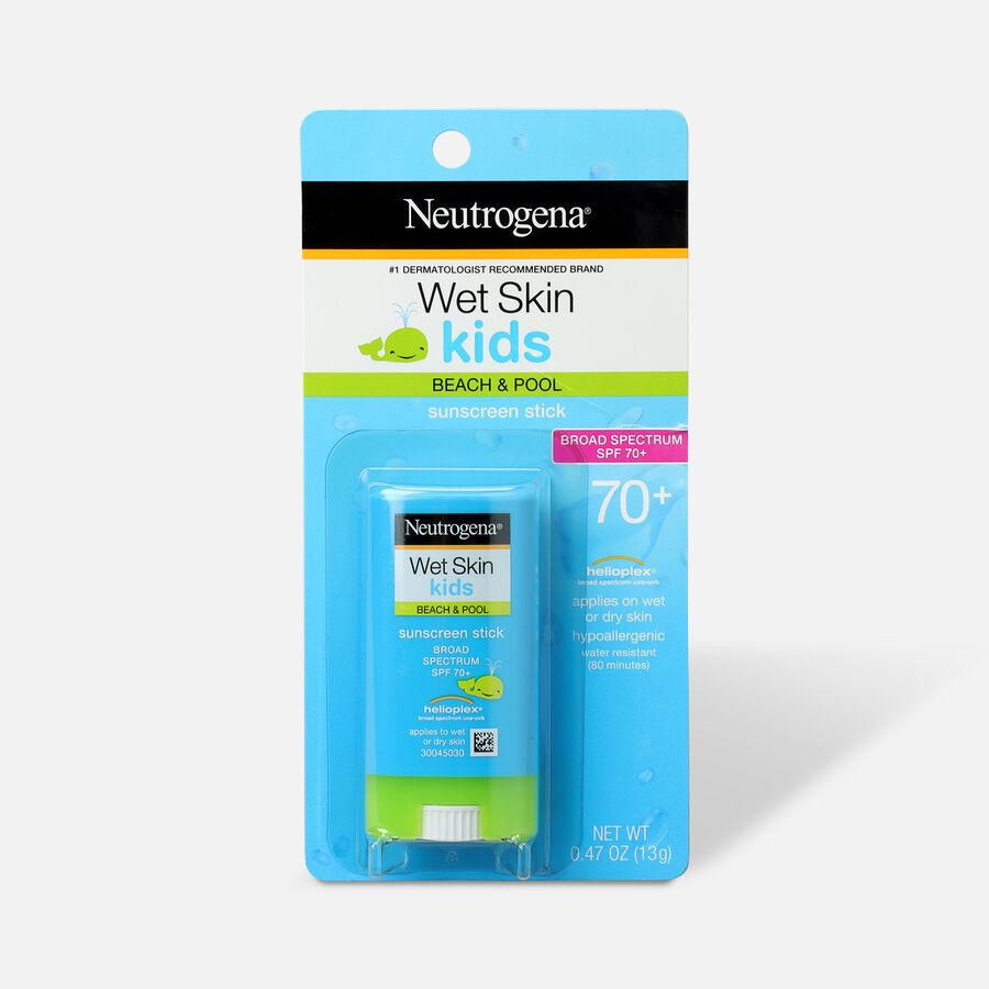 NEUTROGENA® Wet Skin Kids Stick Sunscreen Broad Spectrum SPF 70, 0.47 Oz, , large image number 0