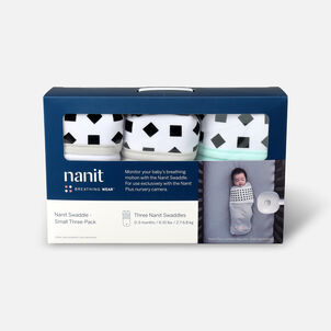 Nanit Breathing Wear Swaddle 3pk, Size Small
