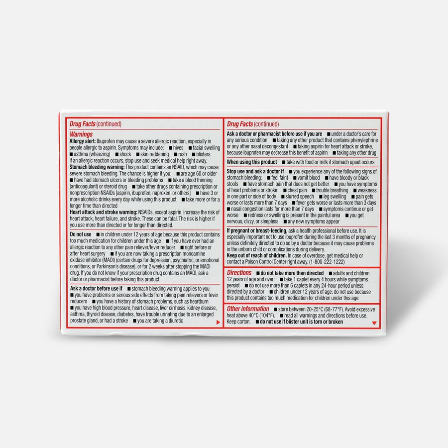 Sudafed PE Sinus Head Congestion + Pain Non-Drowsy Caplets 20 ct, , large image number 1