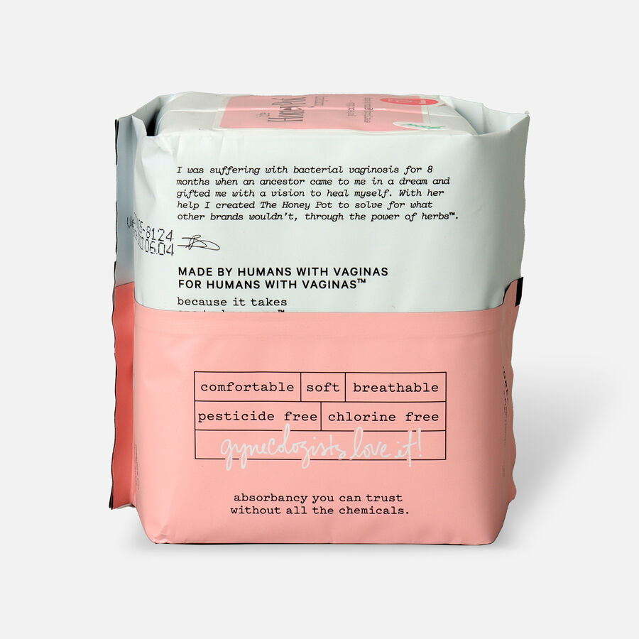 The Honey Pot Postpartum Herbal Pads with Wings, 12ct, , large image number 1