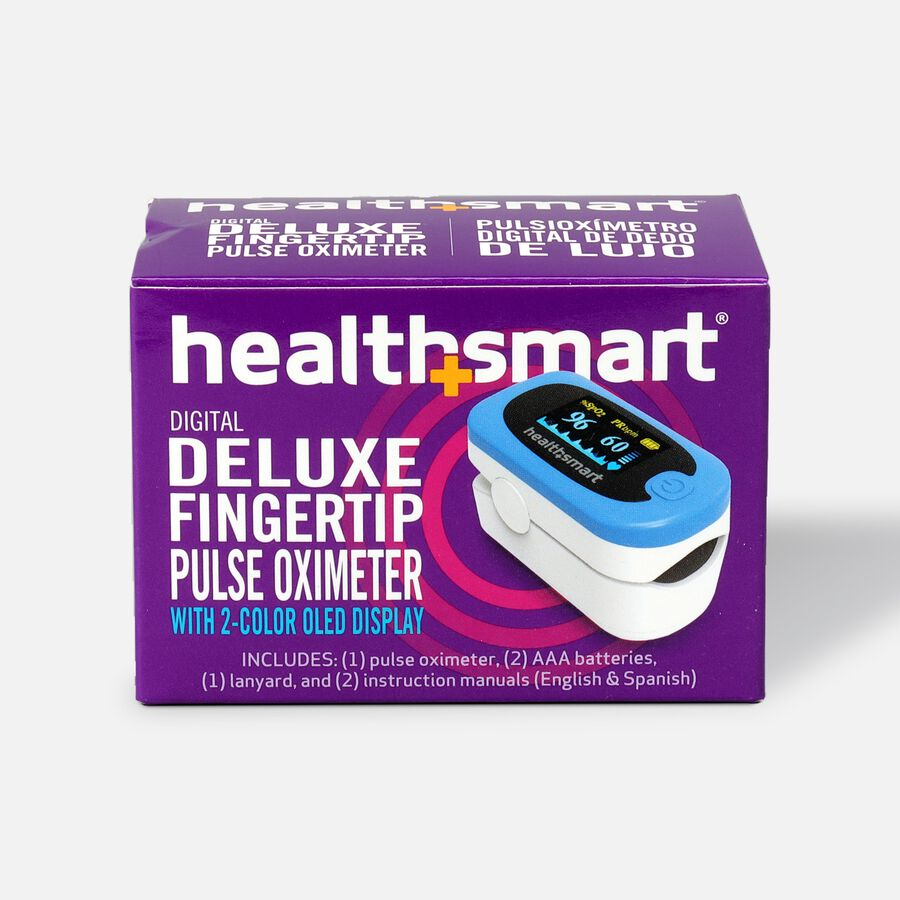 HealthSmart Pulse Oximeter Deluxe with 2-Color Display, , large image number 1