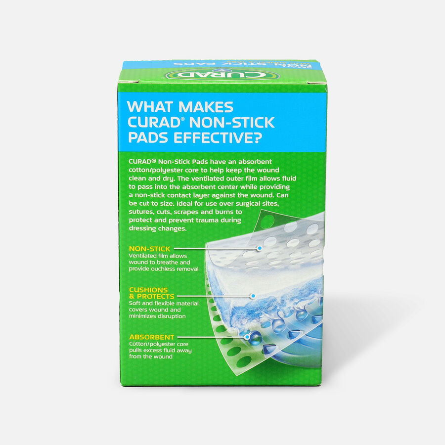 """Curad Telfa Non-Stick Pads with Adhesive 2"""" x 3"""", 20 ea, , large image number 1"""