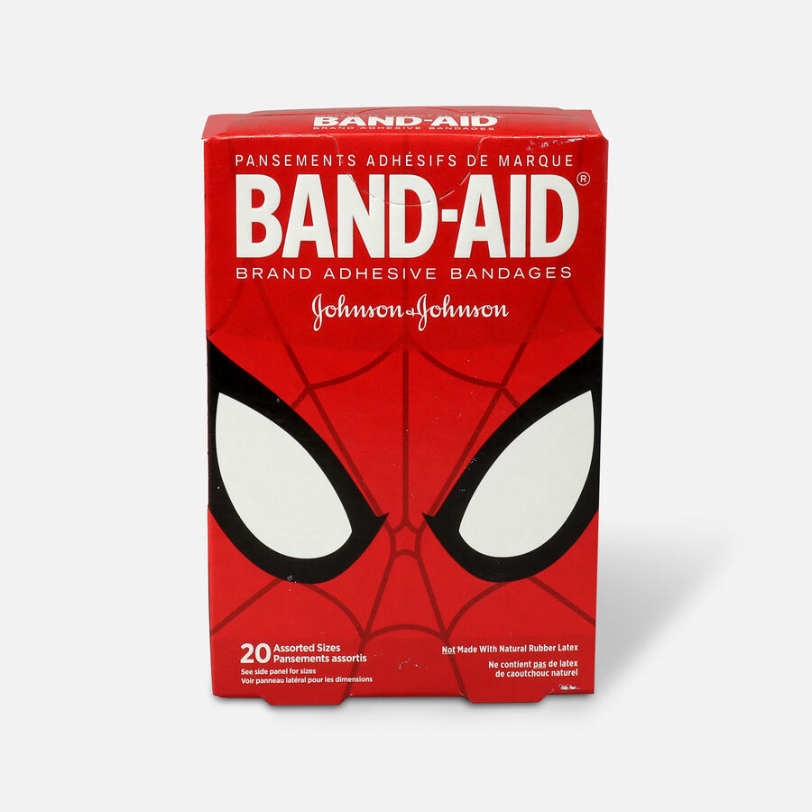 Band-Aid Adhesive Bandages, Spiderman, Assorted Sizes, 20 ct., , large image number 1