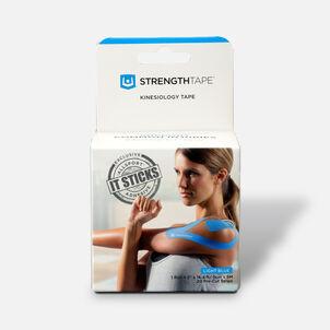 StrengthTape Kinesiology Precut Tape, Light Blue, 20 ct