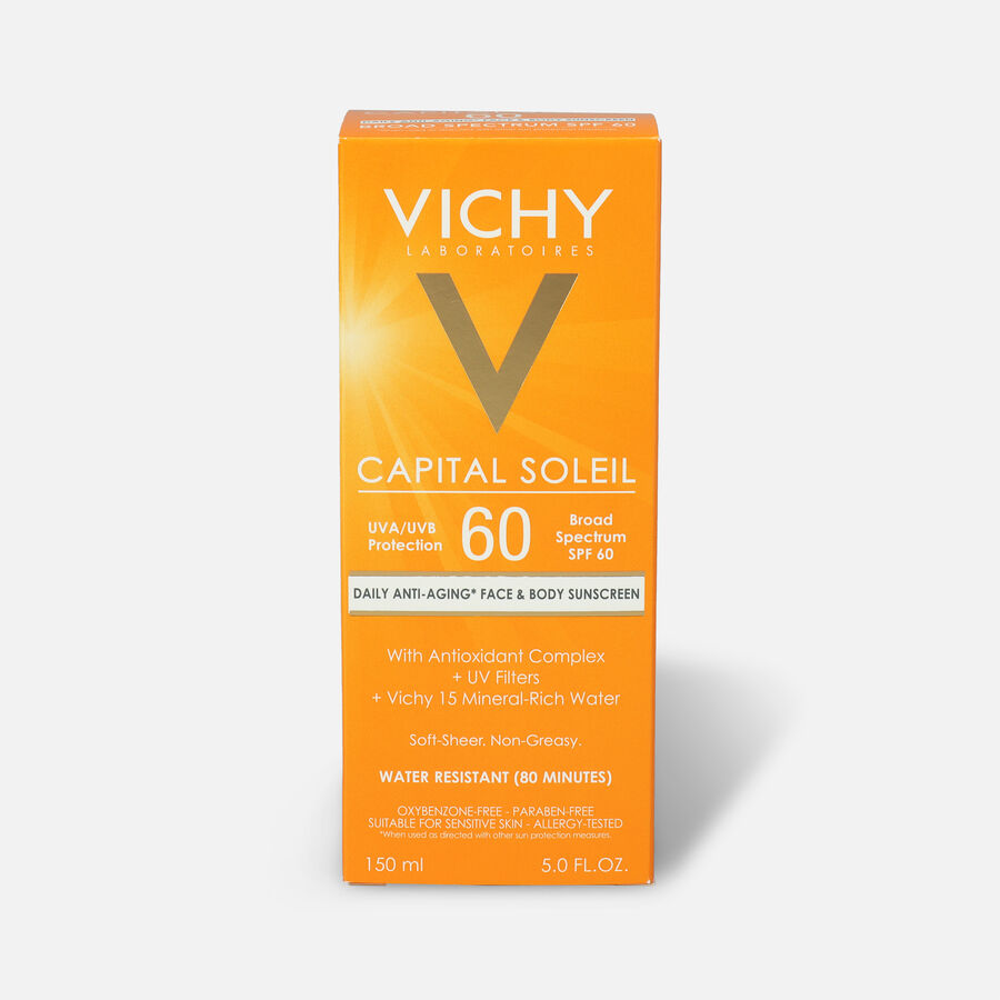 Vichy Idéal Capital Soleil SPF 60 Ultra-Light Body and Face Sunscreen with Antioxidants, 5.0 Fl. Oz., , large image number 0