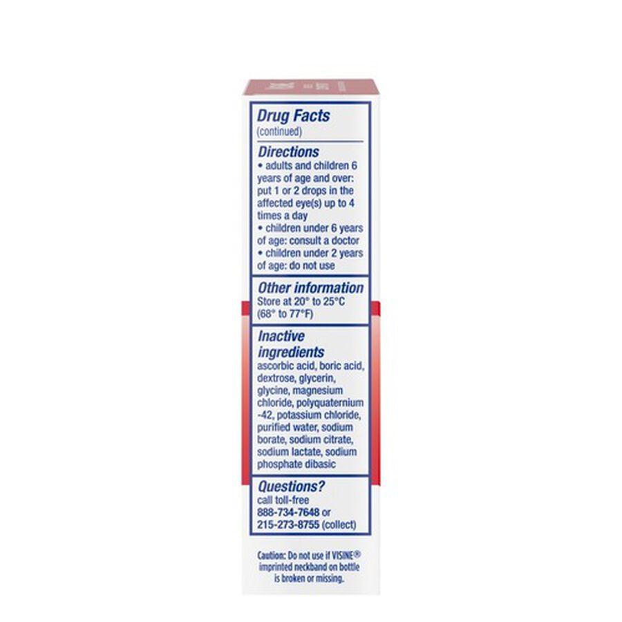 Visine Original Redness Reliever Drops, 0.5 fl oz, , large image number 6