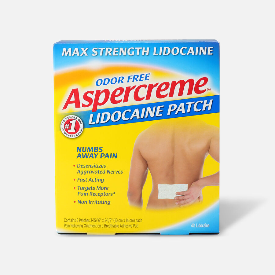 Aspercreme with 4% Lidocaine Patch, 5 ct., , large image number 0