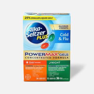 Alka-Seltzer Plus PowerMax Gels, Cold & Flu, Day & Night