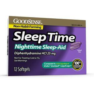 GoodSense® Sleep Time Softgels, 12 ct