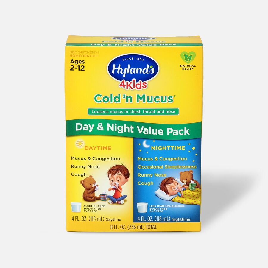 Hyland's 4 Kids Cold and Mucus, Day and Night Value Pack, , large image number 0