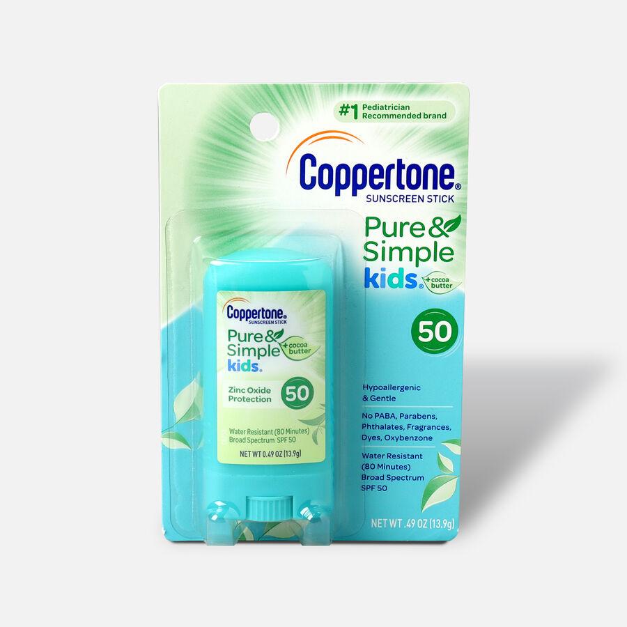 Coppertone Kids Sunscreen Stick Broad Spectrum SPF 50, .46 oz, , large image number 0