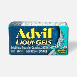 Advil Liqui-Gels Pain Reliever and Fever Reducer, Solubilized Ibuprofen 200mg, 40 Count, Liquid Fast Pain Relief
