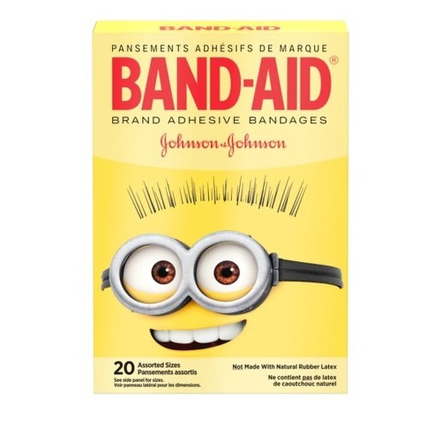 Band-Aid Adhesive  Assorted Bandages, Minions, 20 ct., , large image number 2