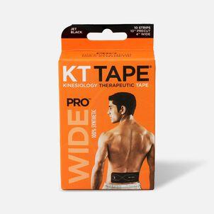 "KT Tape PRO Wide, 4"" x 10"", Black, 10 ct"