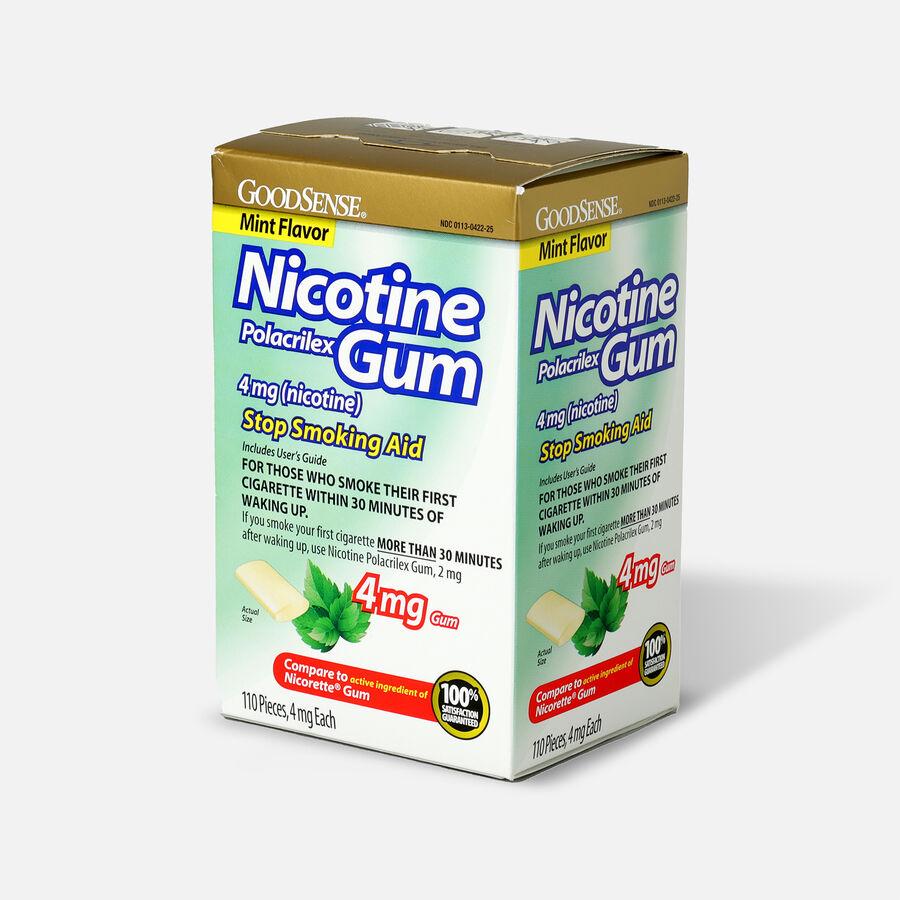 GoodSense® Nicotine Polacrilex Gum, Uncoated Mint Flavor, USP 4 mg (nicotine), 110 ct, , large image number 2