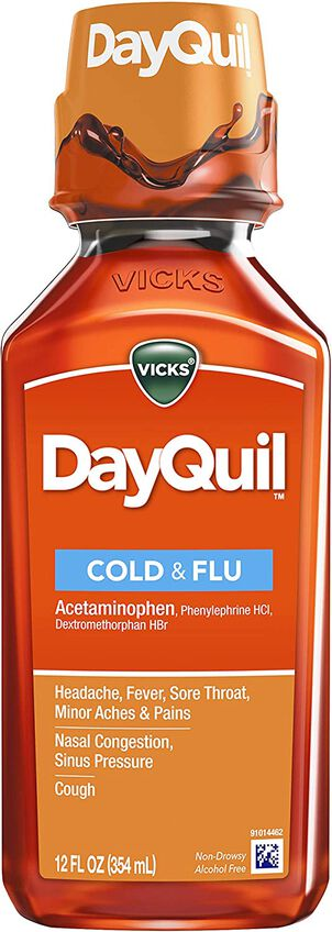 Vicks Dayquil Cold & Flu, 12 oz