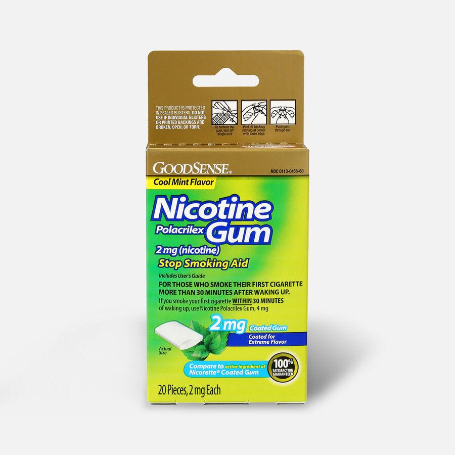 GoodSense® Coated Nicotine Polacrilex Gum 2 mg (nicotine), Mint, 20 ct, , large image number 0