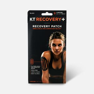 KT Tape Recovery+ Patch 4 ct Black