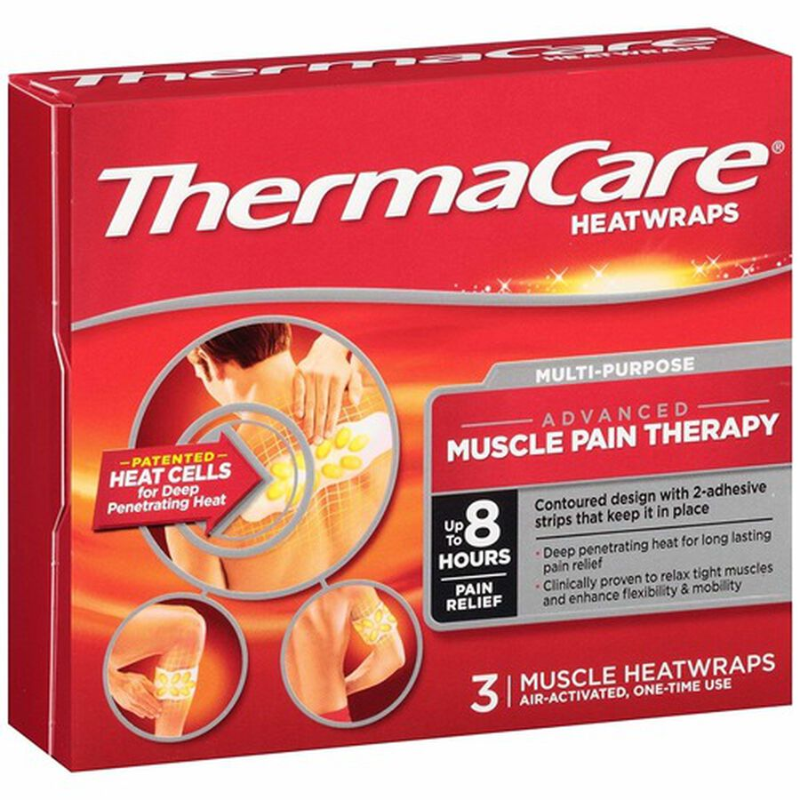 Thermacare Heat Wrap Muscle and Joint Wraps, 8HR, 3 ct, , large image number 2