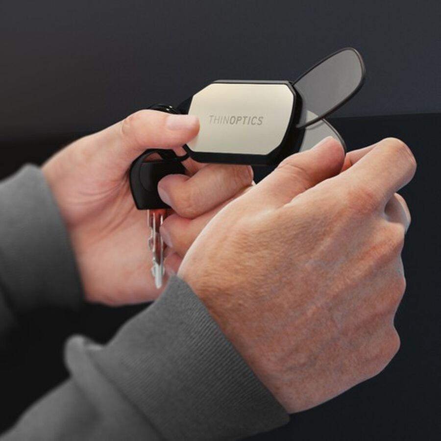 ThinOPTICS Keychain Reading Glasses, Black Frame, 2.50 Strength, , large image number 4