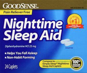 GoodSense® Night Time Sleep Aid 25 MG Caplets, 24 ct