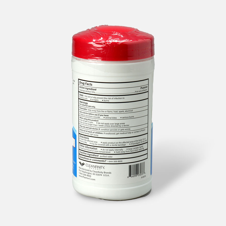 Pharma-C-Wipes™ 70% Isopropyl Alcohol First Aid Wipe, , large image number 1
