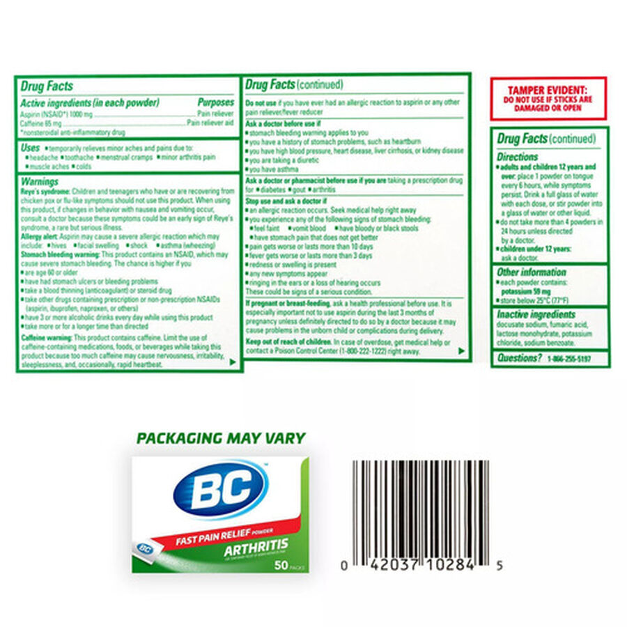 BC Powder, Arthritis, 50ct., , large image number 1