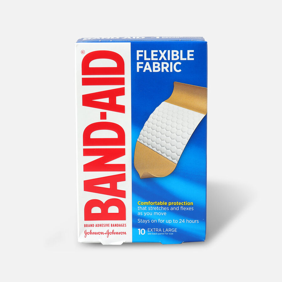 Band-Aid Flexible Fabric Adhesive Bandages, Extra Large - 10ct, , large image number 0