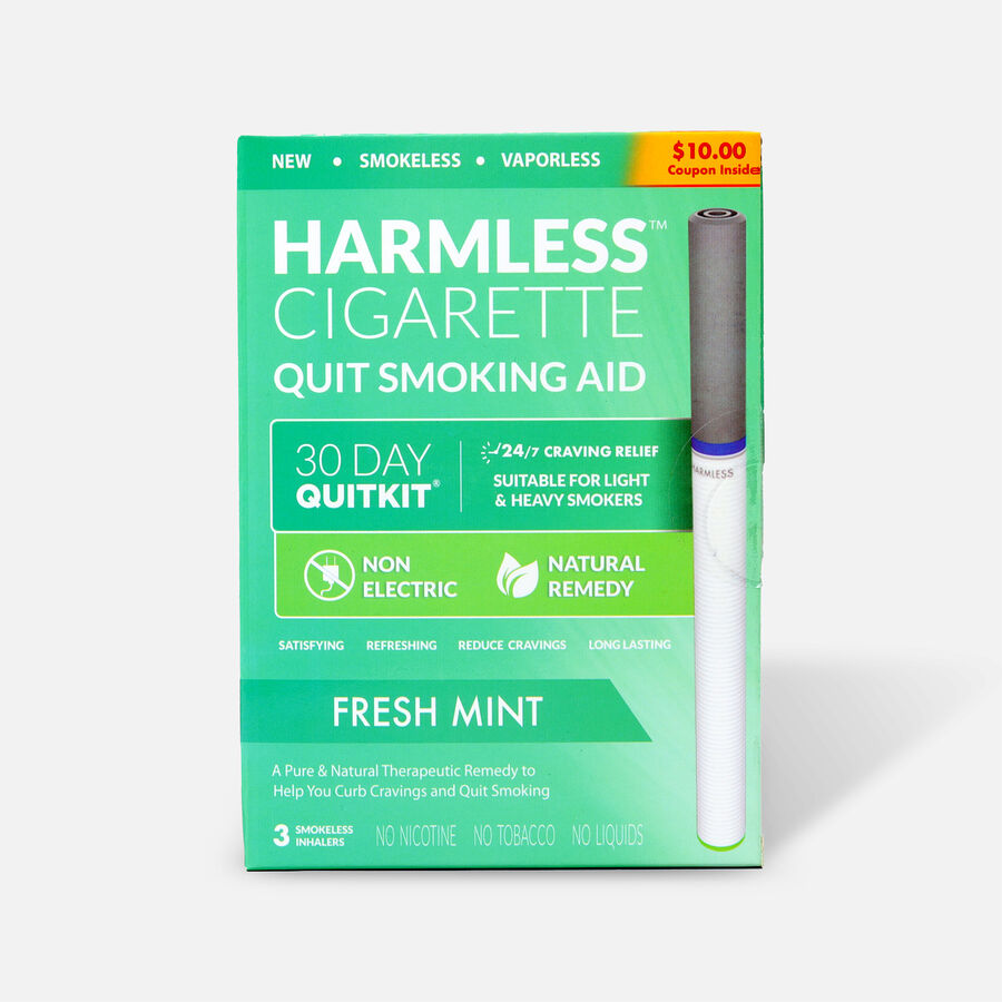 Harmless Cigarette Quit Smoking Aid, 30 Day Quit Kit, Fresh Mint, , large image number 0