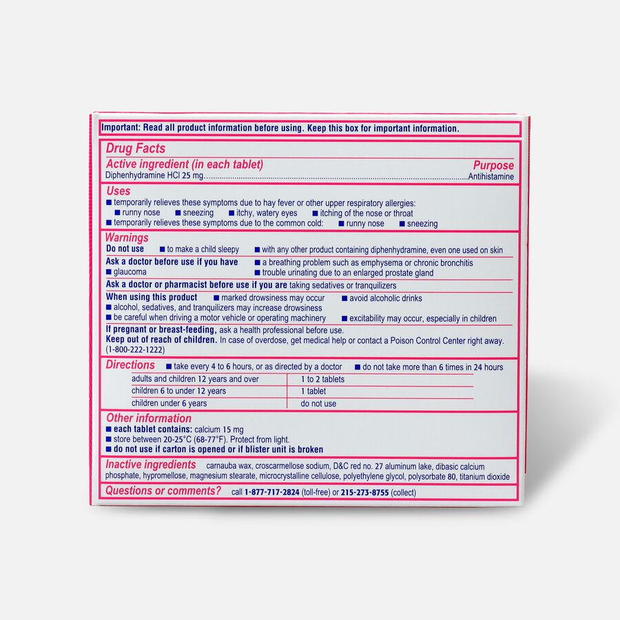 Benadryl Ultra Allergy Relief Tablets, 48 ct, , large image number 1