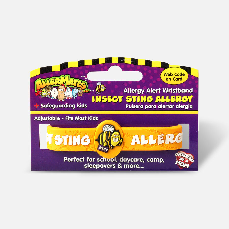 AllerMates Children's Allergy Alert Bracelet - Bee Sting & Insect, , large image number 0