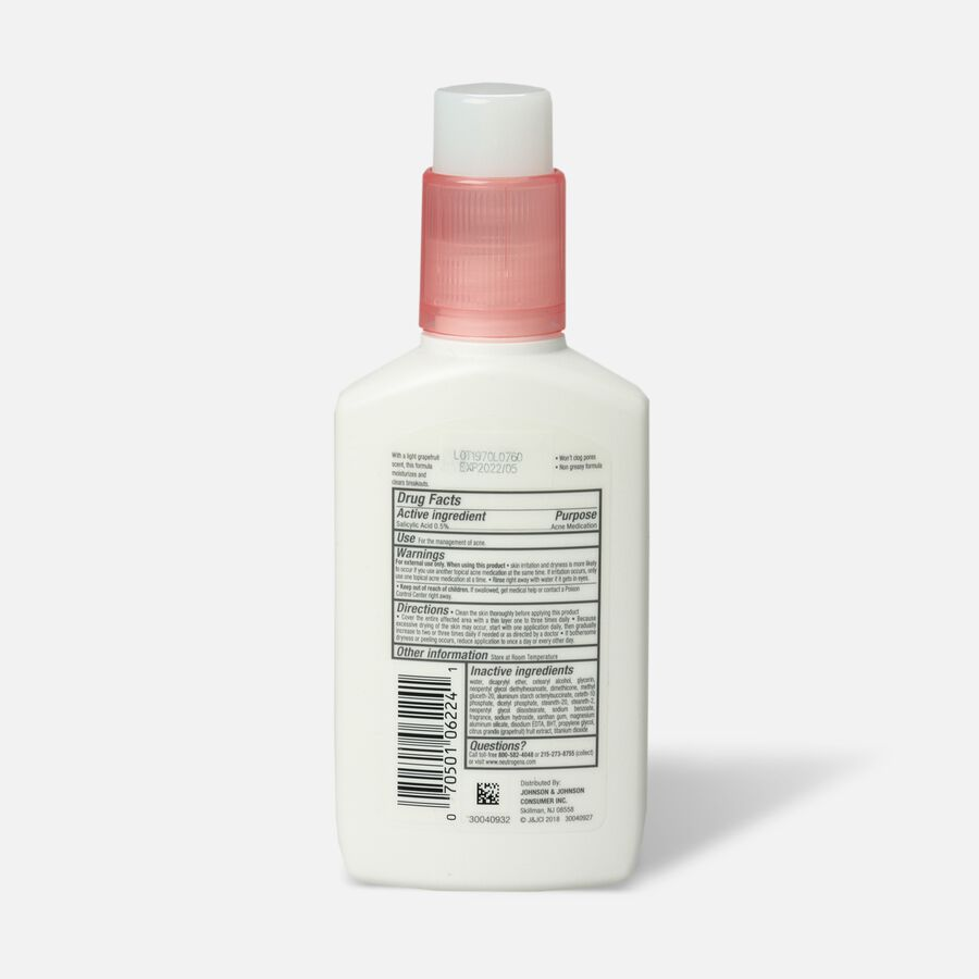 Neutrogena Pink Grapefruit Oil-Free Facial Moisturizer, 4oz., , large image number 1