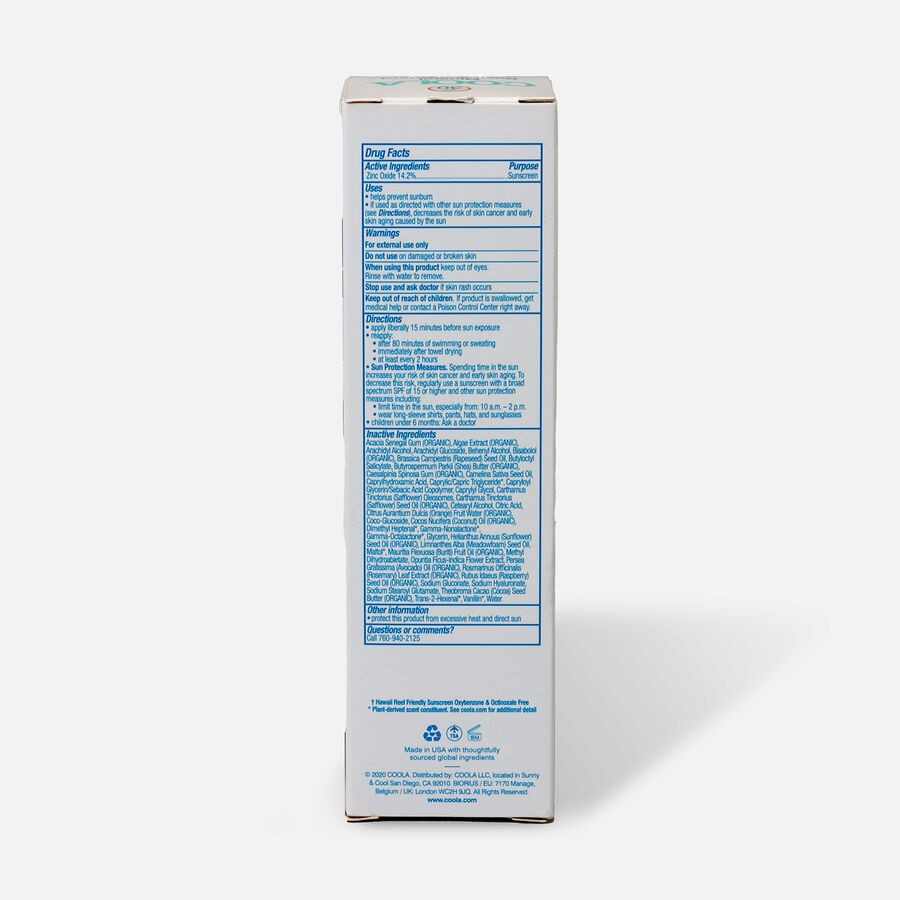 Coola Mineral Body Organic Sunscreen Lotion SPF 50, Fragrance Free - Travel Size, , large image number 2
