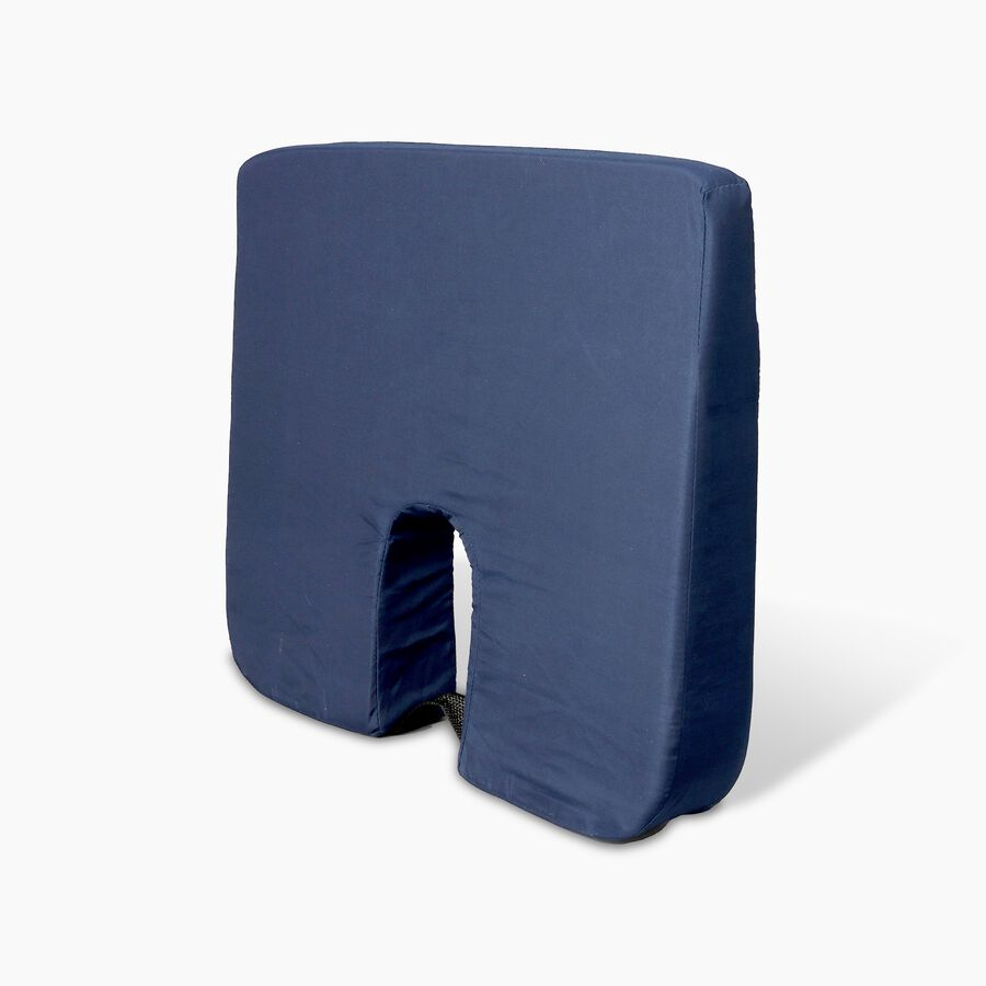 Foam Seat Cushion for Coccyx Support, 18 x 14 x 1.5 to 3 inches, Navy , , large image number 2