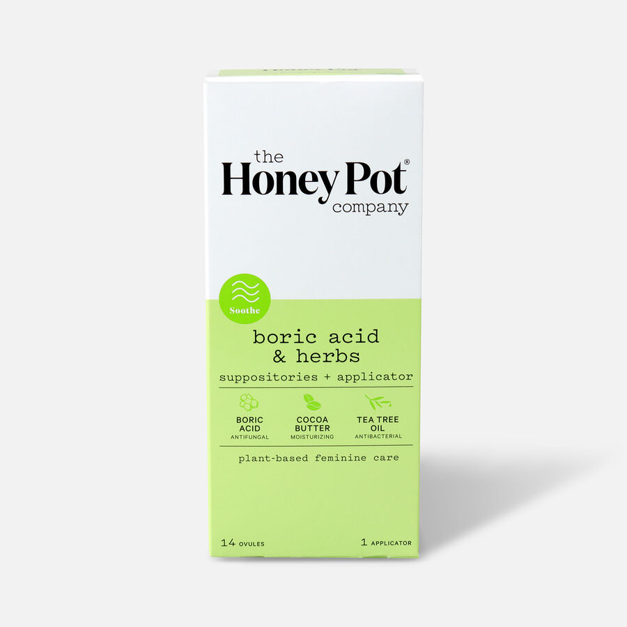 The Honey Pot Boric Acid & Herbs 7 Day Suppositories, 14ct, , large image number 0