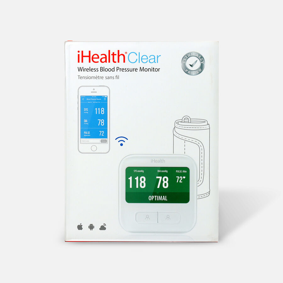 iHealth Clear Wireless Blood Pressure Monitor, , large image number 0