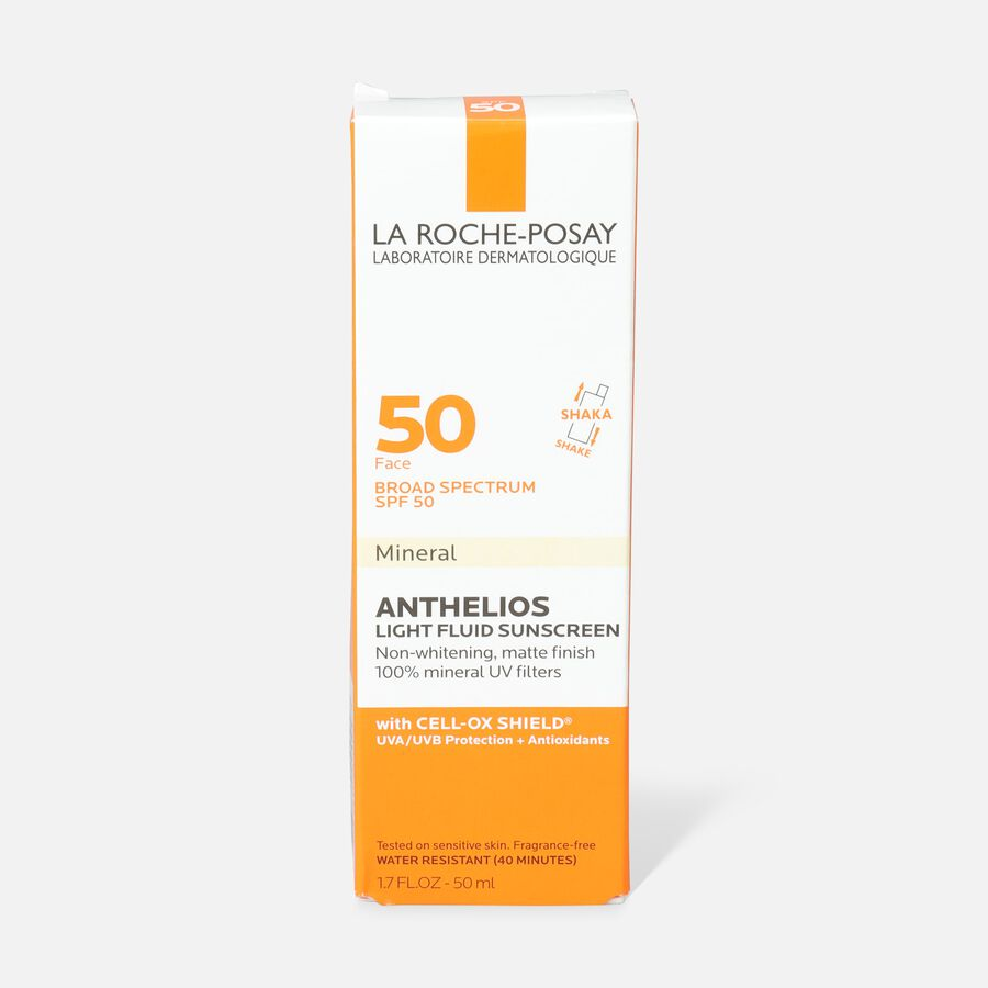La Roche-Posay Anthelios 50 Mineral Sunscreen Ultra-Light Fluid for Face, SPF 50 with Zinc Oxide and Antioxidants, 1.7 Fl. Oz., , large image number 1
