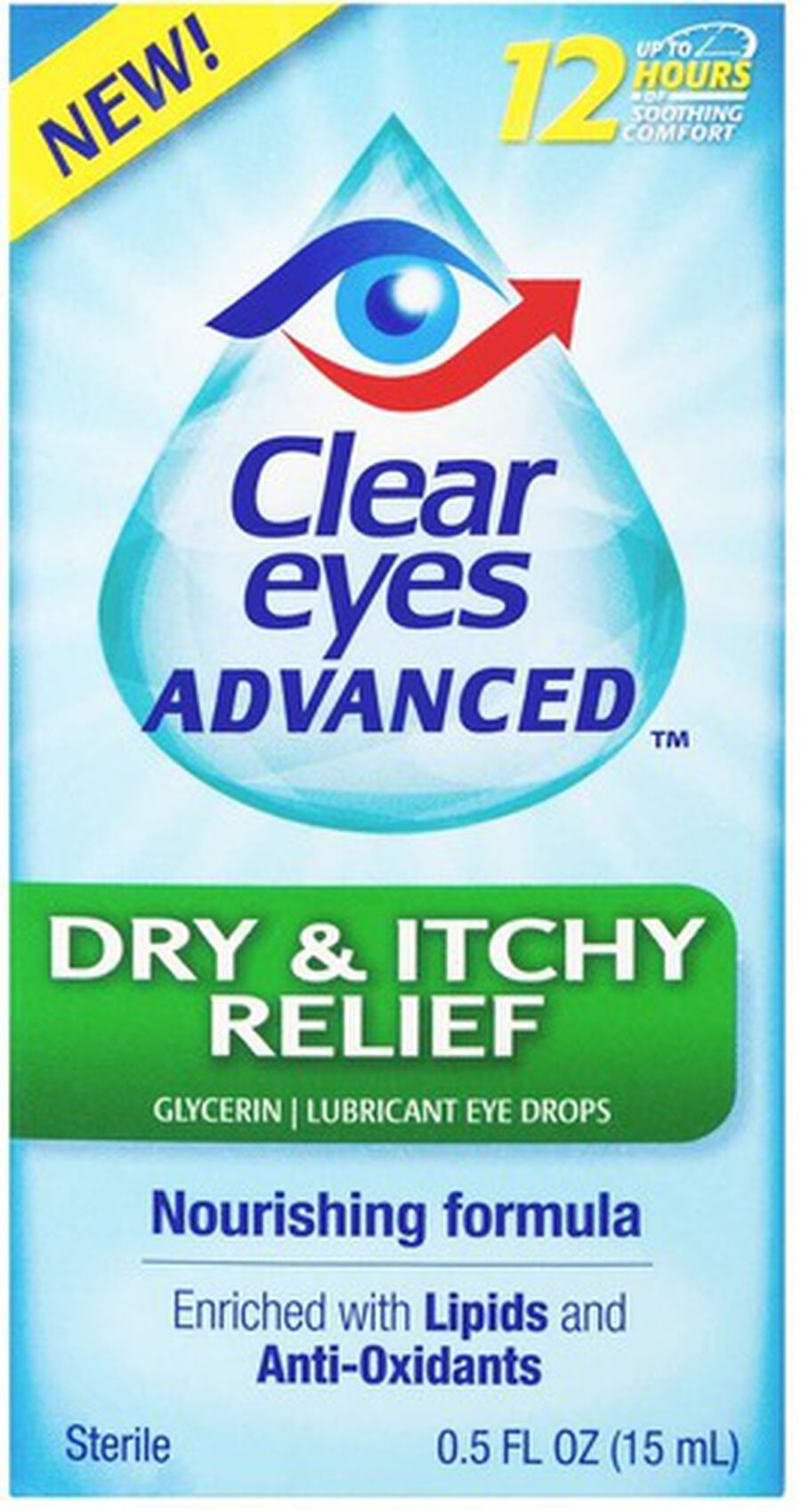 Clear Eyes Advanced Dry & Itchy Drops, .5 oz, , large image number 0