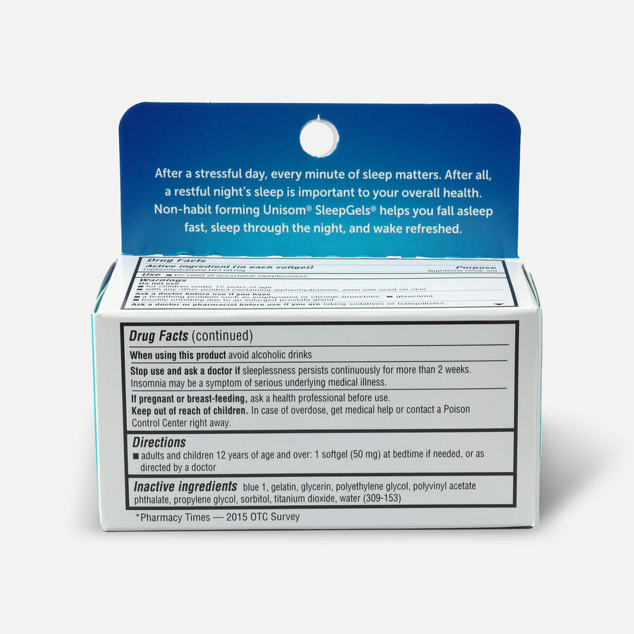 Unisom SleepGels, Maximum Strength Nighttime Sleep Aid, Softgels, 32 ea, , large image number 1