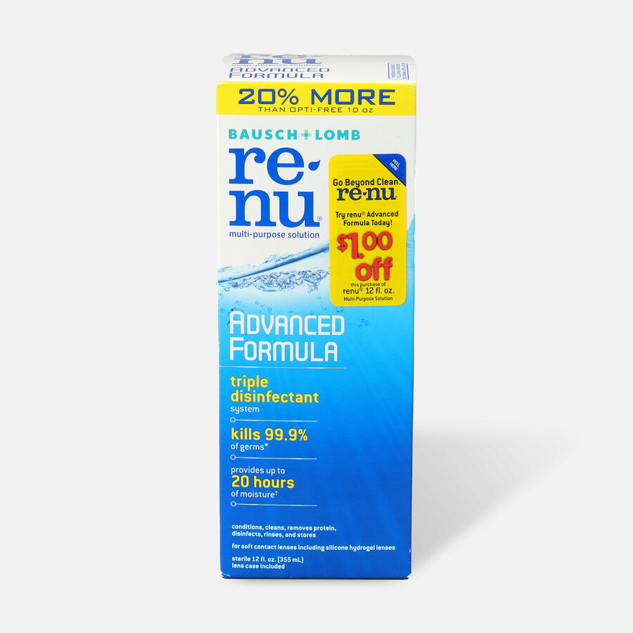 Renu Advanced Formula Multi Purpose Solution 12 oz, , large image number 0