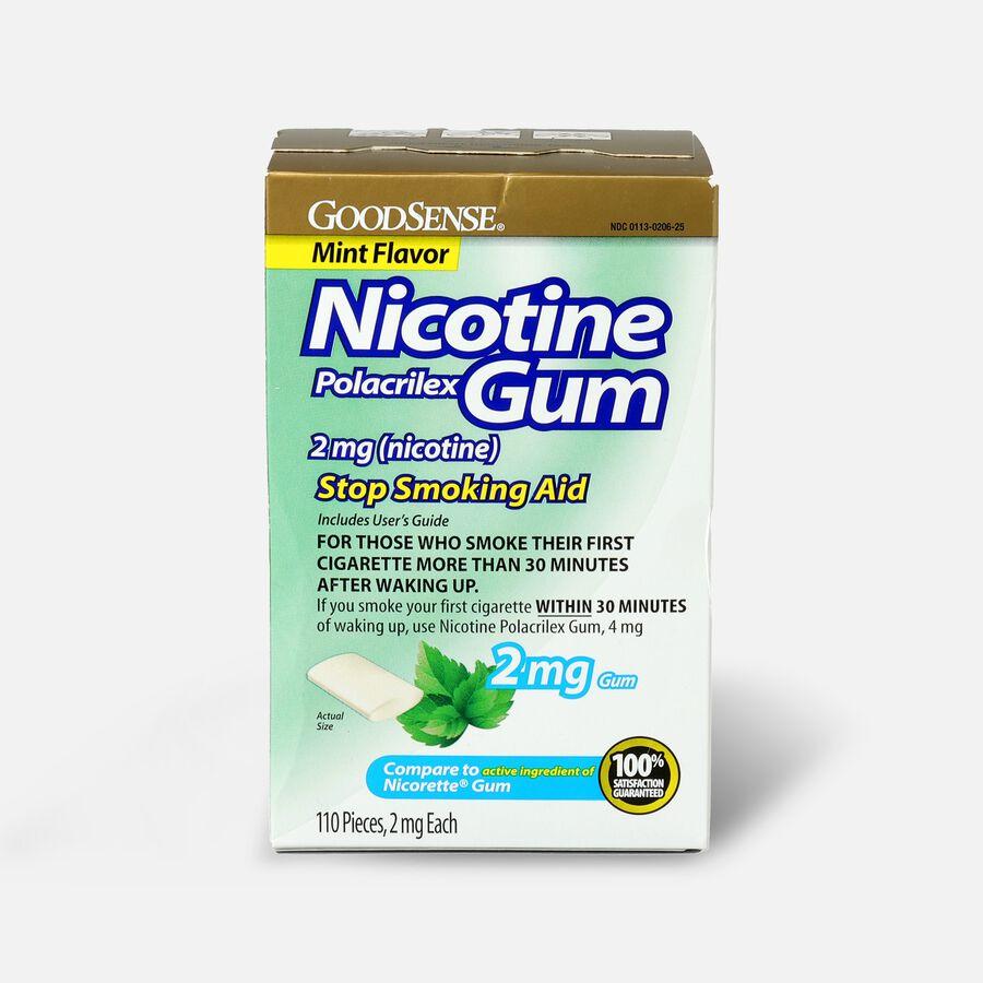 GoodSense® Nicotine Polacrilex Gum, 2 mg (nicotine), Non-Coated, 110 ct, , large image number 0