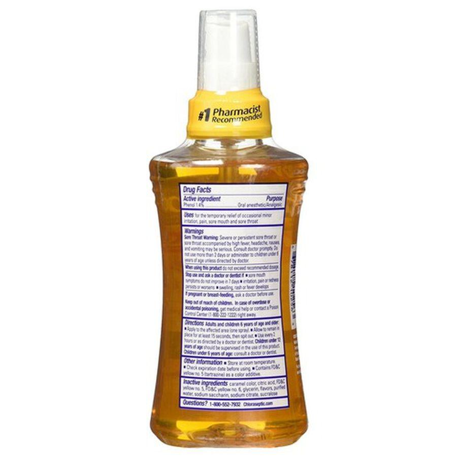 Chloraseptic, Honey Lemon, Warming Sore Throat Spray, 6oz, , large image number 1