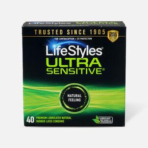 LifeStyles Ultra Sensitive Latex Condoms, 40 Count