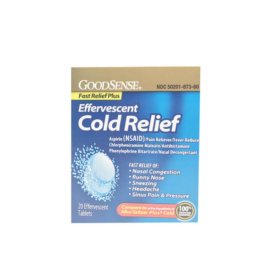 GoodSense® Effervescent Cold Relief Plus Tablets, 20 count, , large image number 0