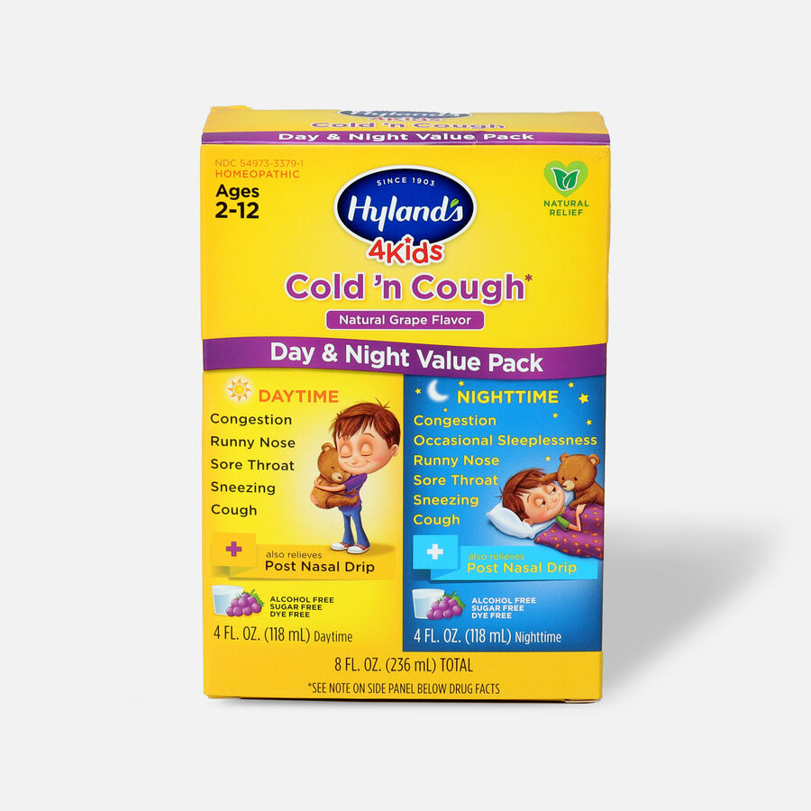 Hyland's 4 Kids Cold and Cough, Day and Night Value Pack, Grape, , large image number 0