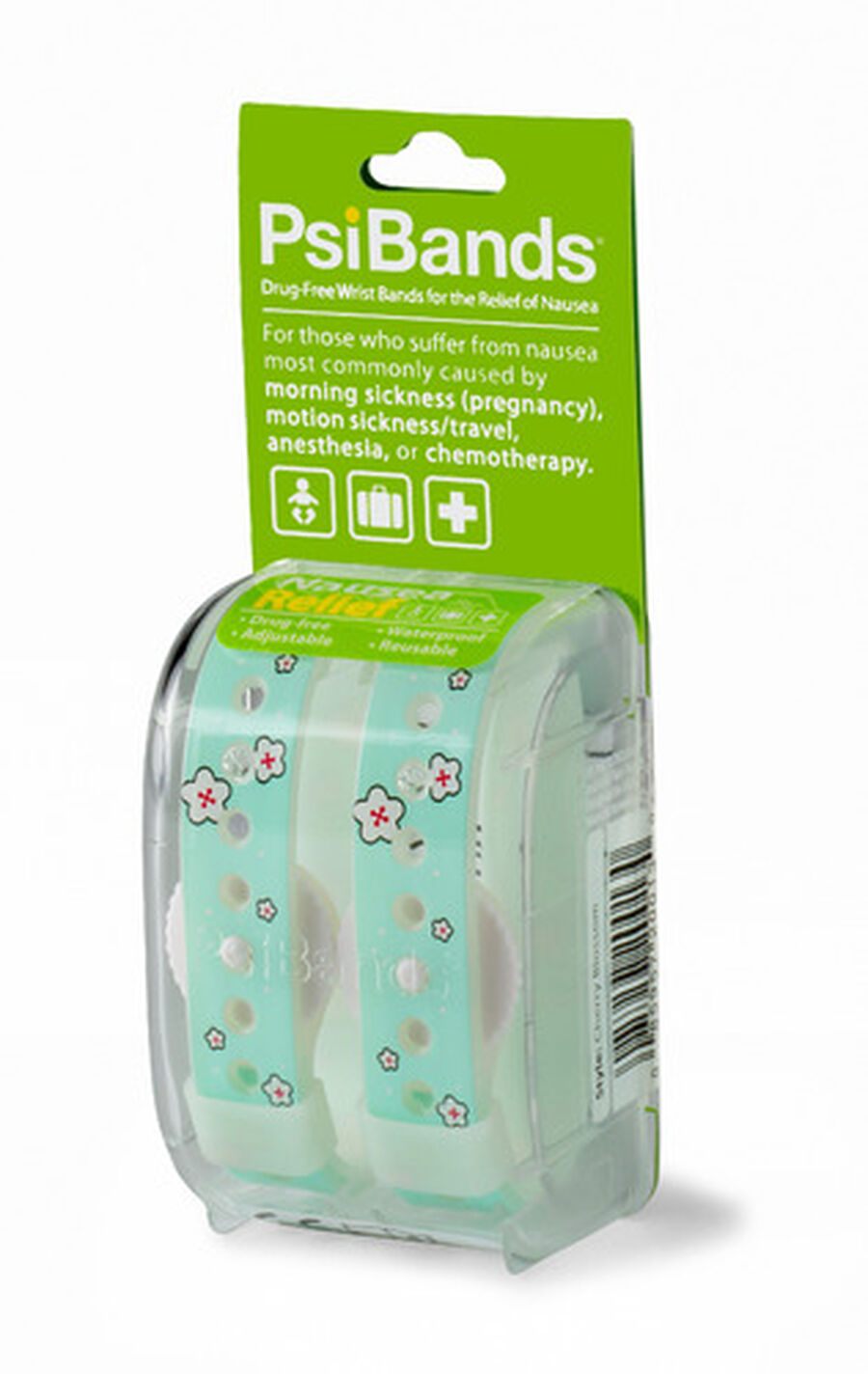 Psi Bands Nausea Relief Wrist Bands - Cherry Blossom, Cherry Blossom, large image number 2
